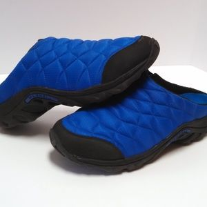 Merrell Alpine Moc Shoes Slide On Quilted Blue 9.5